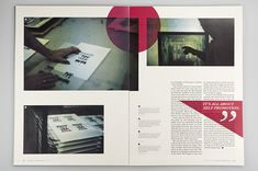 Creative Layout, Editorial, Graphic-Exchange, -, and Selection image ideas & inspiration on Designspiration Magazine Layout Design, Book Design Layout, Print Layout, Graphic Design Layouts, Graphic Design Typography, Graphic Design Illustration, Graphic Design Inspiration, Brochure Inspiration, Magazine Layouts