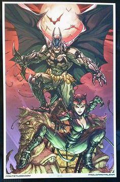 BATMAN & CATWOMAN LTD EDITION ART PRINT ~ PAOLO PANTALENA Batman And Batgirl, Batman Art, Batman Comics, Bruce And Selina, Dc Comics Characters, List Of Artists, Batwoman, Comic Book Artists, Comic Character