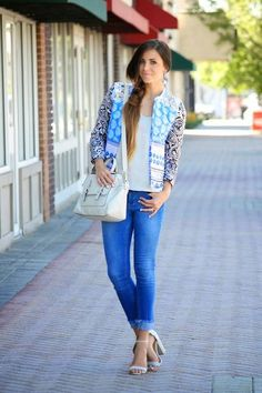 Blue Multi Contrast Sleeve Mix Print Jacket  # #Xoxo Cleverly, yours #Fall Trends #Fashionistas #Best Of Fall Apparel #Jacket mix Print #mix Print Jackets #mix Print Jacket Blue Multi #mix Print Jacket Contrast Sleeve #mix Print Jacket Clothing #mix Print Jacket 2014 #mix Print Jacket Outfits #mix Print Jacket How To Style