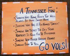 UT Vols Fan Sign Original Painting University Tennessee Volunteers. $20.00, via Etsy.