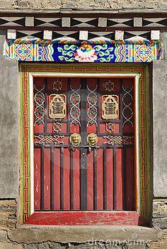 Tibetan door