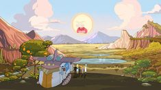 Image result for rick and morty background style
