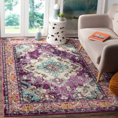 Safavieh Monaco MNC243 Indoor Area Rug, Purple/Pink