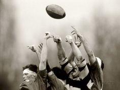 Joueurs de rugby en action Paris, France Papier Photo