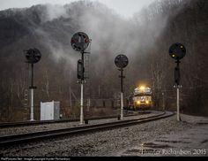 RailPictures.Net Photo: NS 9835 Norfolk Southern GE C40-9W (Dash 9-40CW) at Claren, West Virginia by Hunter Richardson