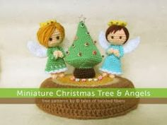 2000 Free Amigurumi Patterns: Miniature Christmas Tree & Angels Crochet Pattern