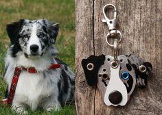 Keychain ID Key Chain Tag Custom Likeness Pooch Dog by PoochTags, $15.00