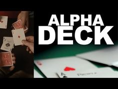 Alpha Deck (Cards and ) by Richard Sander magic tricks close up stage props illusion gimmick mentalism magie Stage Props, Sleight Of Hand, The Spectator, Magic Tricks, Mind Blown, Close Up, Illusions, Playing Cards, Games