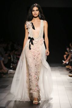 Marchesa Spring Summer 2018 New York....OMG,  gorgeous. Change the colors to fit the wedding theme & budget.