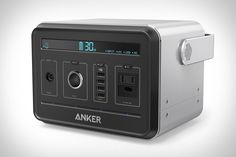 With multiple lithium ion cells giving it a capacity of 434 watt-hours, the Anker PowerHouse is a smart alternative to portable generators. It has four USB ports for charging gadgets, a 12V socket for powering car accessories, and an AC...