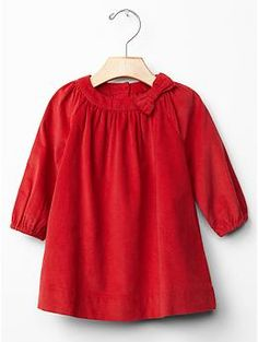 Festive cord bow dress | Gap -- Possible Christmas dress