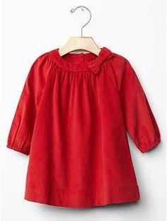 Festive cord bow dress | Gap -- Possible Christmas dress
