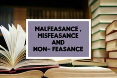Malfeasance , Misfeasance and Non- feasance Criminal Justice, Letter Board, Acting, Law, Lettering, Drawing Letters, Brush Lettering
