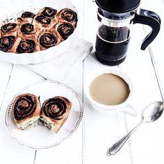 #goodmorning   #coffee & #homemade #wholewheat #chocolate & #honey #rolls for #breakfast . #4tastyseasons . #dnesjem #food #tasty #delicious May 7th, Rolls, Honey, Tasty, Seasons, Homemade, Chocolate, Coffee, Breakfast