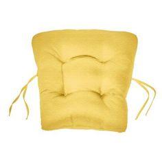 Cushion Source 18 x 20 in. Solid Sunbrella Chair Back Cushion Buttercup - 9DXZS-5438