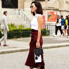 A burgundy skirt is the easiest way to achieve a festive yet not-cheesy Valentine's Day look. Shop our picks!
