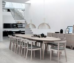 Wharfside Furniture | dining table - A178 | dining chair - A152 | mounted sideboard - A1733 | designed by Skovby