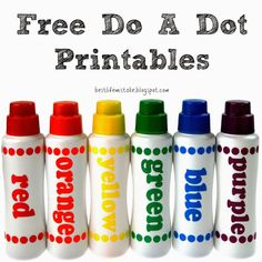 Free Do a Dot Printables