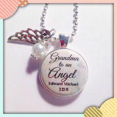 PERSONALIZED MEMORIAL JEWELRY  Grandma to by AnnmarieJewelryTree