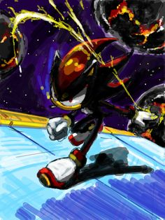 I believe this is in the game Shadow The Hedgehog