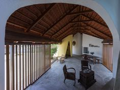 Completed in 2016 in Nha Trang, Vietnam. Images by Quang Tran. The house is nostalgia for Cham ethnic's traditional house with a modern living space.  The aim of the design is making a house using all familiar...