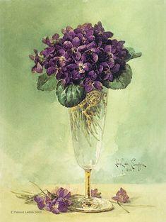 pretty vintage post card - violets