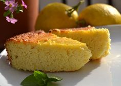 Grain Free Lemon Almond Ricotta Cake - made this tonight, cutting the sugar by a third . It's not that lovely yellow when you use unblanched almond meal , but it's light and lemony, with just a hint of marzipan texture where the batter met the pie pan.  Yum.