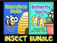 Information text, fluency, and writing Common Core Standards are incorporated in this Butterfly Facts Sentence Shuffle Center. It is on the 2nd grade reading level and is aligned with 1st, 2nd, and 3rd grade Common Core Standards.  paid