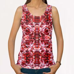 Spring exploit floral pattern All Over Print Tanks by rodric valls