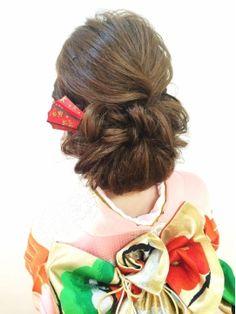 結婚式の髪型(ヘアアレンジ)和装 ★結婚式★振袖モダンスタイル