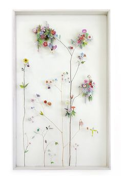 Flower constructions by Anne Ten Donkelaar, made with paper Elle Decoration South Africa