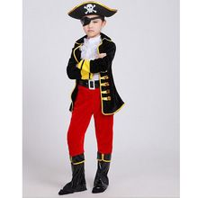 Halloween Party Supplies Pirate Capain Jack Cosplay Boy Clothing Halloween Costume For Kids Children Christmas Costumes Clothes(China (Mainland))