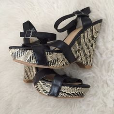 Spotted while shopping on Poshmark: Aubrey Brooke Wedges! #poshmark #fashion #shopping #style #Aubrey Brooke #Shoes