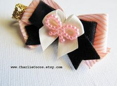 """Pearl Hair Bow Clip """"Sophisticated Sweetheart""""- for Girls/Baby. charliecocos.etsy.com"""
