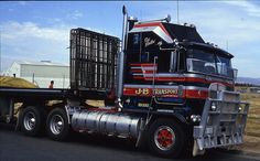 Photo by ROGER EVANS Big Rig Trucks, Semi Trucks, Cool Trucks, Diesel Trucks, Road Train, Cab Over, Kenworth Trucks, Trucks And Girls, Classic Trucks