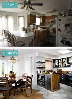antes y después los asaltacasas #cocinaspequeñasminis