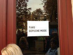 Separate entrance for Depeche Mode fans.