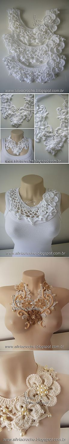 cuello collar crochet