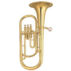 The baritone horn is a member of the brass instrument family. It's also a second lowest brass wind instrument.[