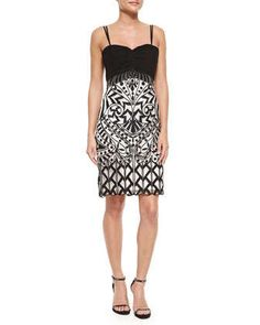 Spaghetti Strap Sweetheart Embroidered Dress  by Sue Wong at Neiman Marcus.