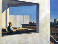 Edward Hopper — Office in a Small City, 1953, Edward Hopper