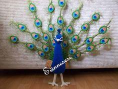 Amigurumi peacock.