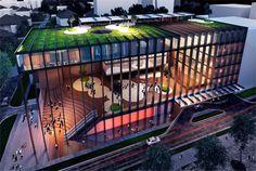 CAF anunció diseño arquitectónico para su nueva sede de Región Norte, en Ciudad de Panamá.La propuesta ganadora del Concurso, entre 21 diseños provenientes de 8 países, pertenece a una firma panameña (Orgullo Panameño!) y plantea un espacio de 16.000 m2 de construcción, que contempla oficinas, estacionamientos, una plaza pública y espacios culturales.
