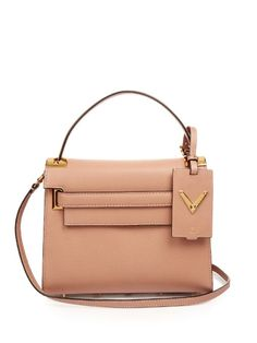 VALENTINO My Rockstud Small Leather Bag. #valentino #bags #shoulder bags #hand bags #suede #lining