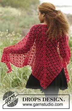 Crochet lace shawl pattern drops design 65 ideas for 2019 Crochet Shawls And Wraps, Crochet Scarves, Crochet Clothes, Lace Shawls, Shawl Patterns, Knitting Patterns Free, Crochet Patterns, Free Pattern, Free Knitting