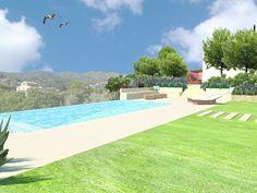 #dibuix en #3D del #disseny d'un #jardí #masia www.tallerdepaisatge.com