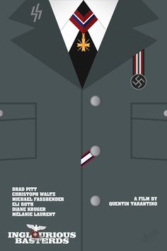 Inglourious Basterds (2009) ~ Minimal Movie Poster by Amogh Ravindra ~ Attire Series #amusementphile