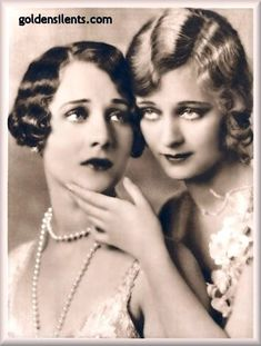 """Helene and Dolores Costello - They were the daughters of actor Maurice Costello and his actress wife Mae Costello. Helene first appeared on screen in the 1909 film adaptation of Victor Hugo's Les Misérables.   Dolores Costello was an American film actress who achieved her greatest success during the era of silent movies. She was nicknamed """"The Goddess of the Silent Screen""""."""