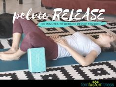 This 30 minute hip + pelvic floor stretching routine feels so good. Treat yourself!