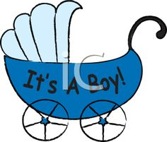 Royalty Free Clipart Image of a Baby Carriage